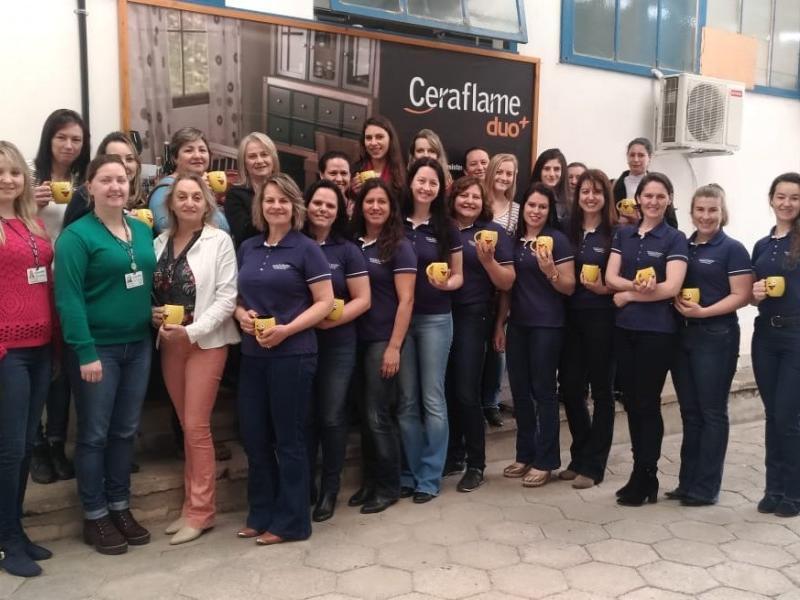 Mulheres empreendedoras visitam empresas de Rio Negrinho